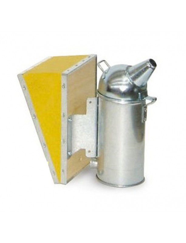 Stainless steel smoker  diameter 8 cm with vinyl leather bellows for beekeeping
