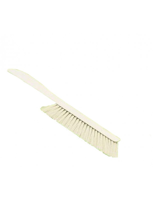 Brush with long wooden handle and natural bristle for beekeeping