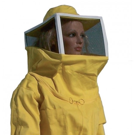 Jacket for beekeeper with square net hat, with forward zipper size XXL, for beekeeper