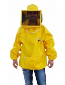 Blusón para apicoltura con careta cuadrada grande