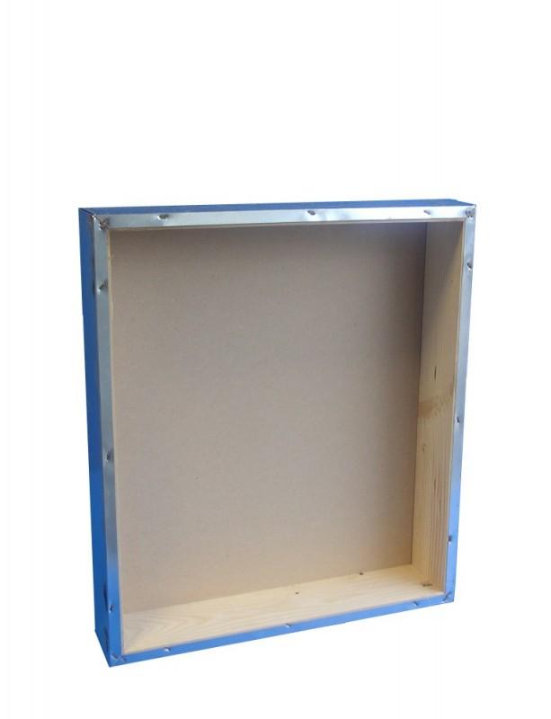 TETTO a scatola  in lamiera zincata rivestito in legno  per arnie da 12