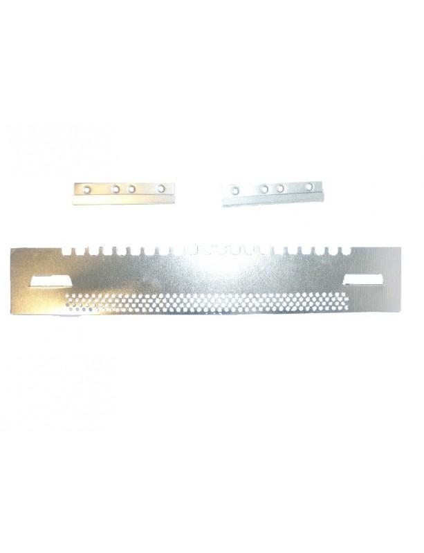 PORTICINA IN INOX A SARACINESCA DENTATA E FORATA 380 mm
