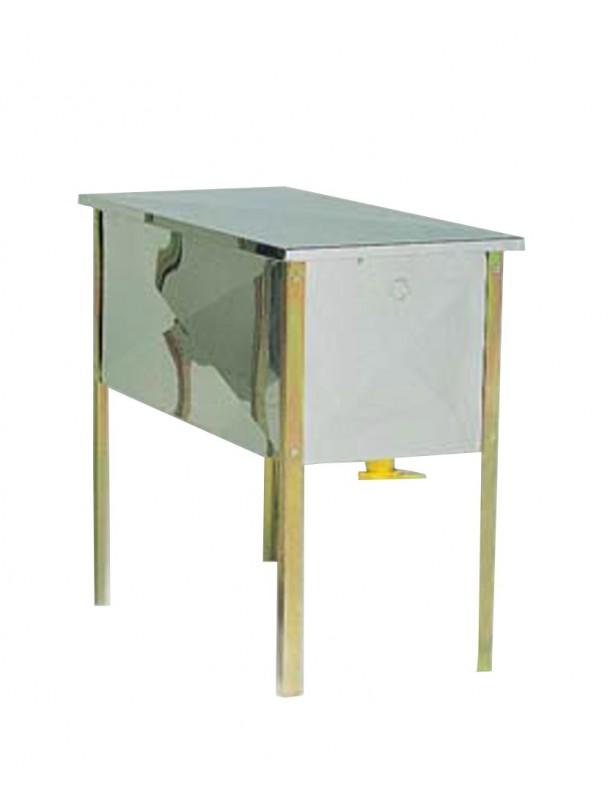 BANCO inox LANGSTROTH per disopercolare con vasca da cm.100x51x40
