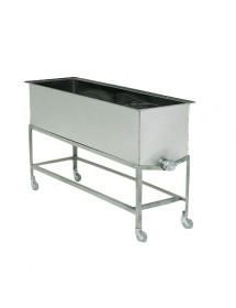 BANCO in D.B per disopercolare professionale vasca da cm.156x48x47