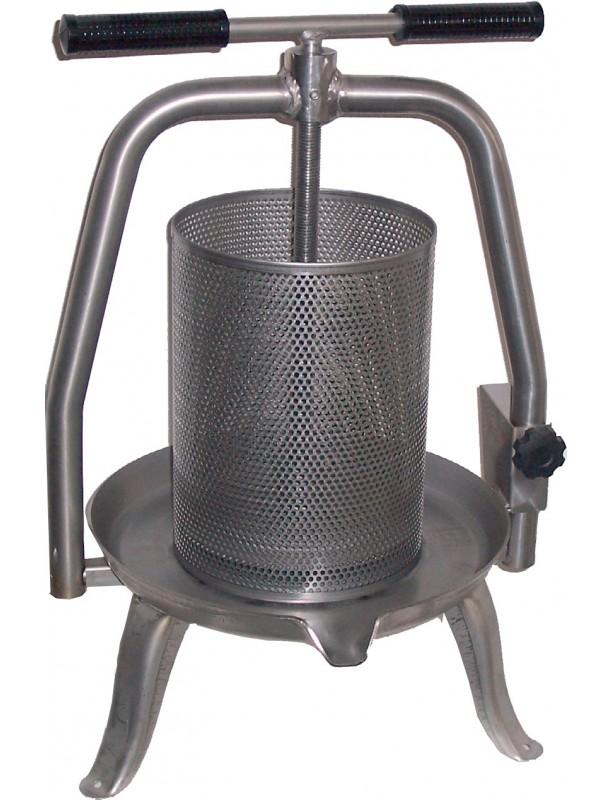 PRESSA PER OPERCOLI in acciaio inox a vite Ø cm.20