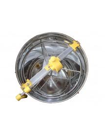 SMELATORE RADIALE D.B MANUALE per 9 favi da melario o 3 da nido con cestello inox