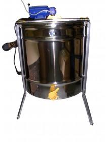 SMELATORE TANGENZIALE LANGSTROTH per 4 favi con cestello inox Ø 525