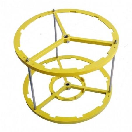 SMELATORE MANUALE o MOTORE serie 2008 RADIALE D.B. con cestello nylon per 9 favi da melario