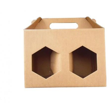 Scatola ASTUCCIO in cartone per 2 vasi miele da 1/2kg (marrone)