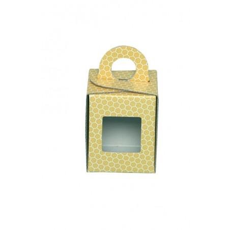 SCATOLA ASTUCCIO per vaso miele da 1/2kg (giallo)