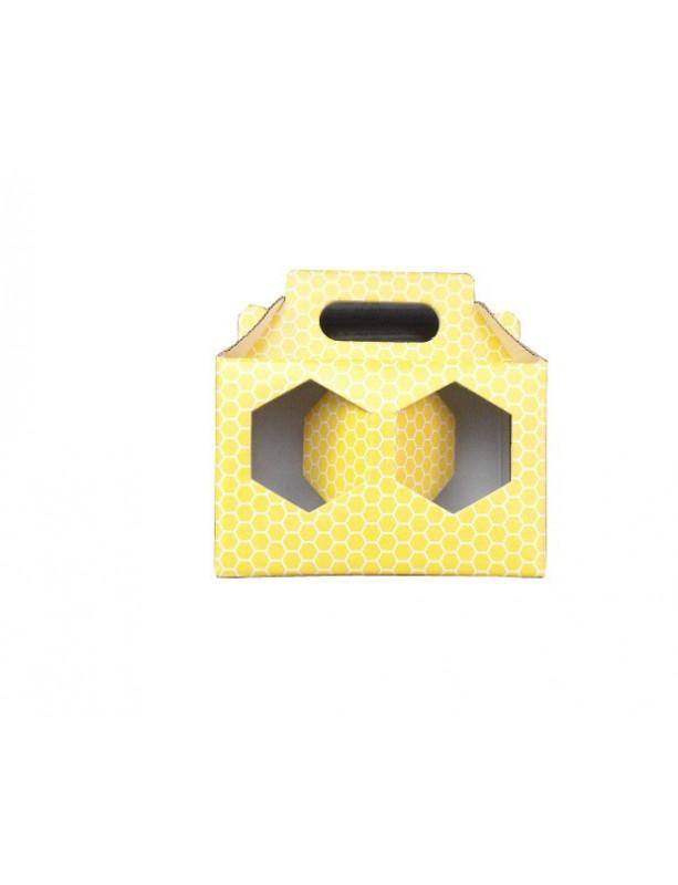 SCATOLA per 2 vasi miele da 250 g (giallo)