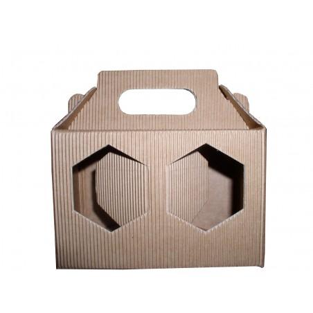 Scola ASTUCCIO in cartone per 2 vasi miele da 250g (marrone)