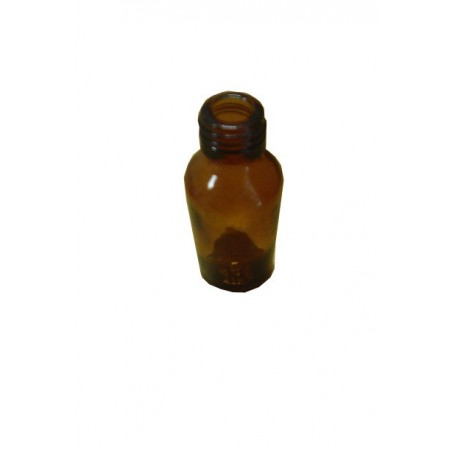 FLACONE ROTONDO IN VETRO GIALLO 50 ml