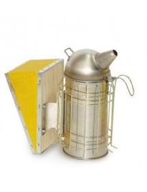 Ahumador de apicultura en acero inoxidable diámetro 8 cm fuelles en vinilo con proteccion