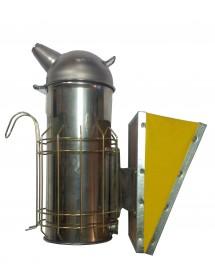 """Ahumador de apicultura en acero inoxidable """"AMERICA"""" diámetro 10 cm fuelles en vinilo - ALTURA 30 cm"""