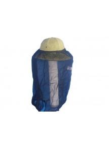 CARETA para apicoltura velo de tul con casco