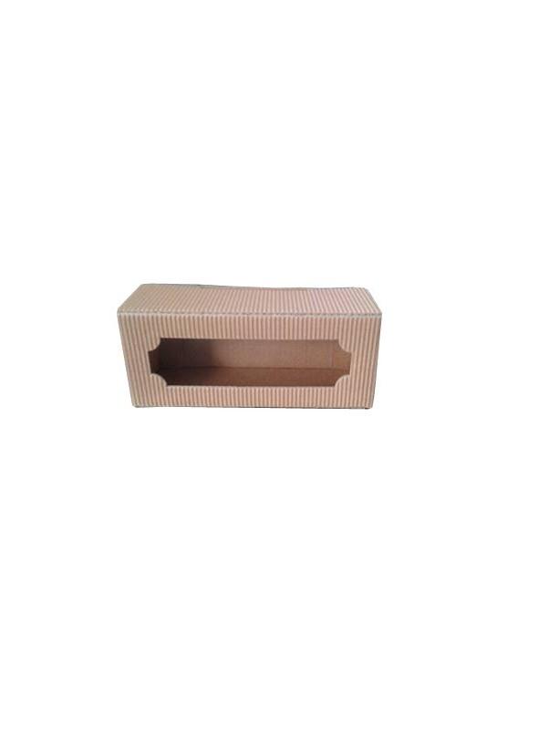SCATOLA ASTUCCIO in cartone per 3 vasi miele da 50 g (marrone)