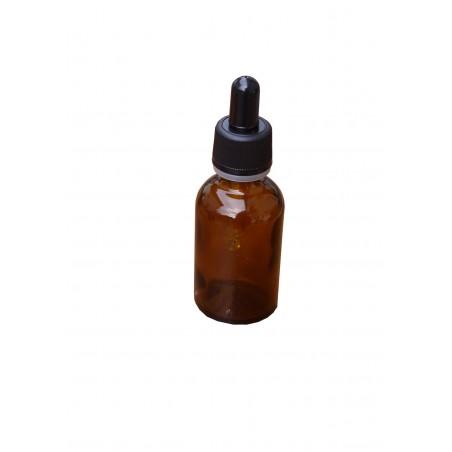FLACONE ROTONDO IN VETRO GIALLO CON CONTAGOCCE 20 ml