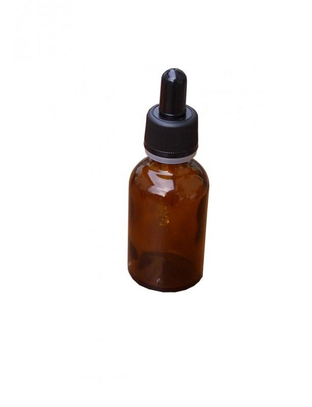 FLACONE ROTONDO IN VETRO GIALLO CON CONTAGOCCE 30 ml