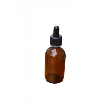 FLACONE ROTONDO IN VETRO GIALLO CON CONTAGOCCE 50 ml