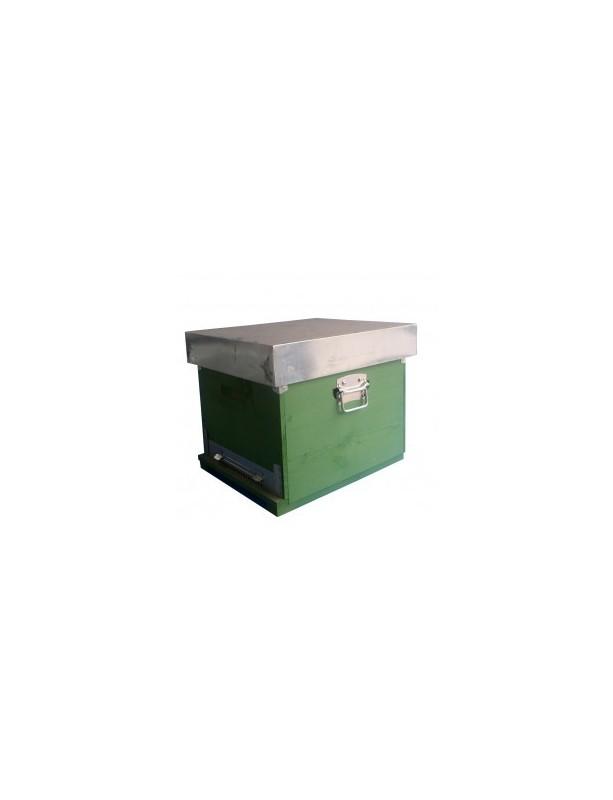 RUCHE BOX D.B.10 CADRES avec fond anti-varroas FIXE - seul corps - avec cadres filès