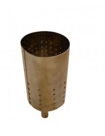 Chambre inox a combustion pour enfumoir pour apicolture diametre 10 cm