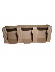 SCATOLA in cartone per 3 vasi miele da 50 g SPECIALE (marrone)