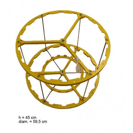 SMELATORE RADIALE D.B. MOTORE NYLON per 18 favi da melario o 3 da nido