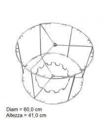 CESTELLO inox per smelatore radiale LANGSTROTH da 12 favi
