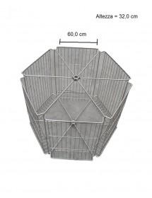 CESTELLO inox per smelatore tangenziale LANGSTROTH da 6 favi