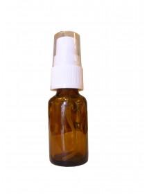 FLACONE ROTONDO IN VETRO GIALLO CON SPRAY 10 ml