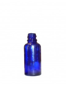 FLACONE IN VETRO BLU ROTONDO 30 ml