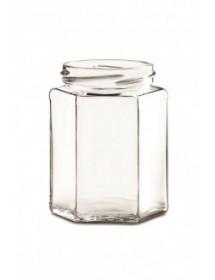 VASETTO in vetro per  MIELE  400 g (OTTAGONALE) solo vetro