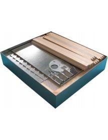 RUCHE BOX D.B. 10 CADRES avec fond anti-varroas MOBILE - seul corps - kit de montage