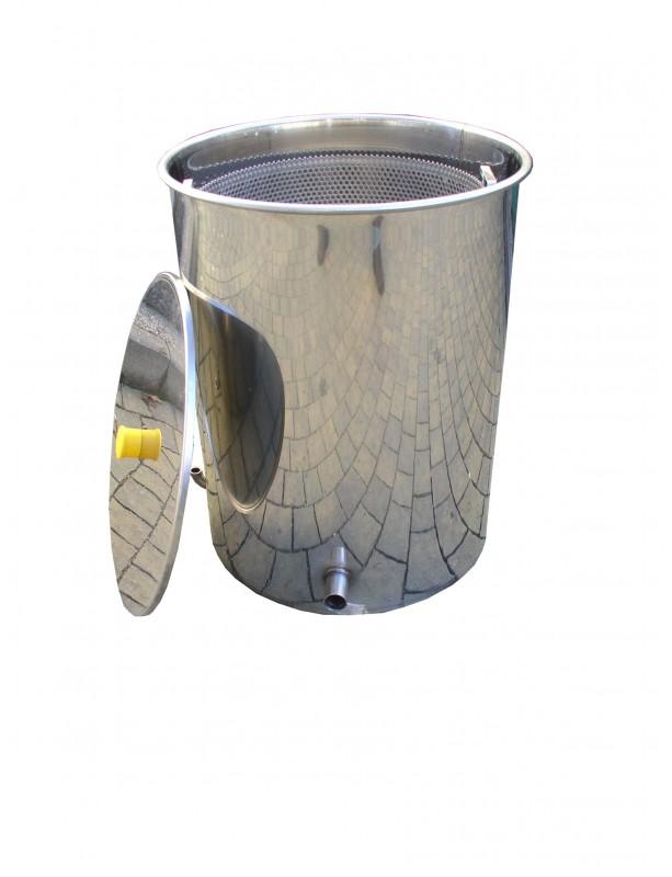 SCERATRICE inox a vapore senza fornello per 10 favi D.B da nido Ø 470 mm