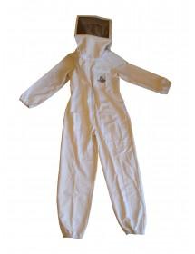 combinaison pour apicolture en coton blanc complète avec masqué amovible