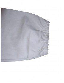 White cotton beekeeper coverall with detachable hat with plexiglass