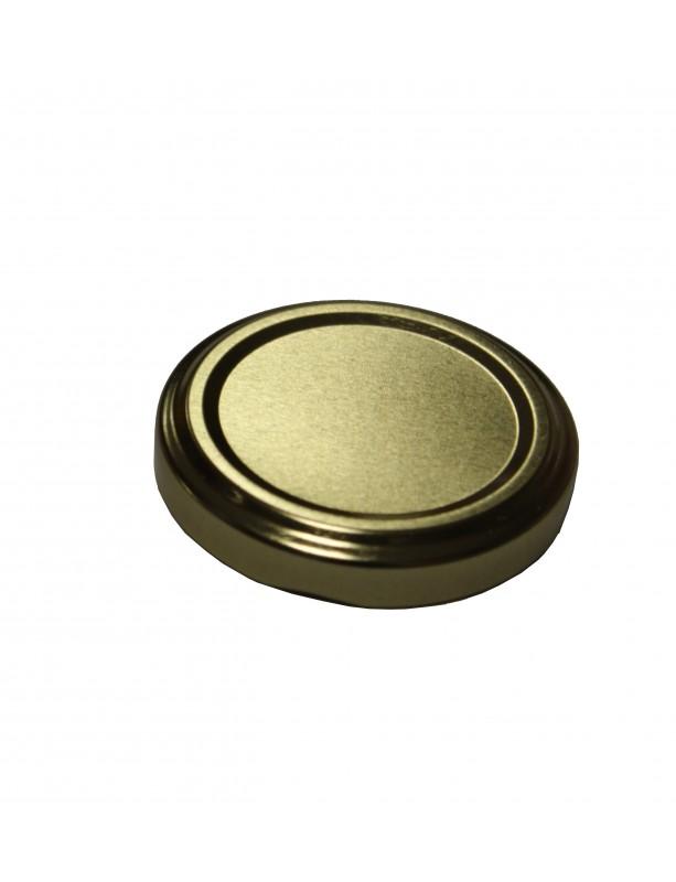 CAPSULA TWIST OFF T53 per vasetto vetro - BOCCA 53 mm ORO