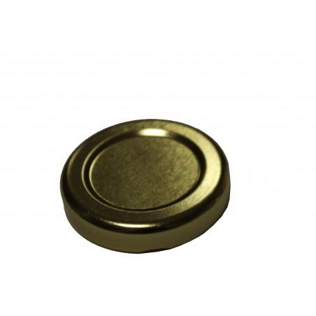 VASETTO in vetro CILINDRICO 30 ml con CAPSULA TWIST-OFF T43 ORO