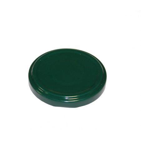 VASETTO IN VETRO ORCIO 370 ml con CAPSULA TWIST-OFF T63 VERDE SMALTATO SOTTOVUOTO