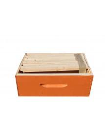 MELARIO per ARNIA D.B. 8 FAVI in legno con 7 TELAINI con FOGLIO CERA