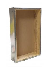 TETTO a scatola in lamiera zincata interno in legno per arnia D.B. da 6 favi