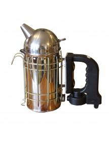 Ahumador de apicultura en acero inoxidable diámetro 10 cm - con motor electrico