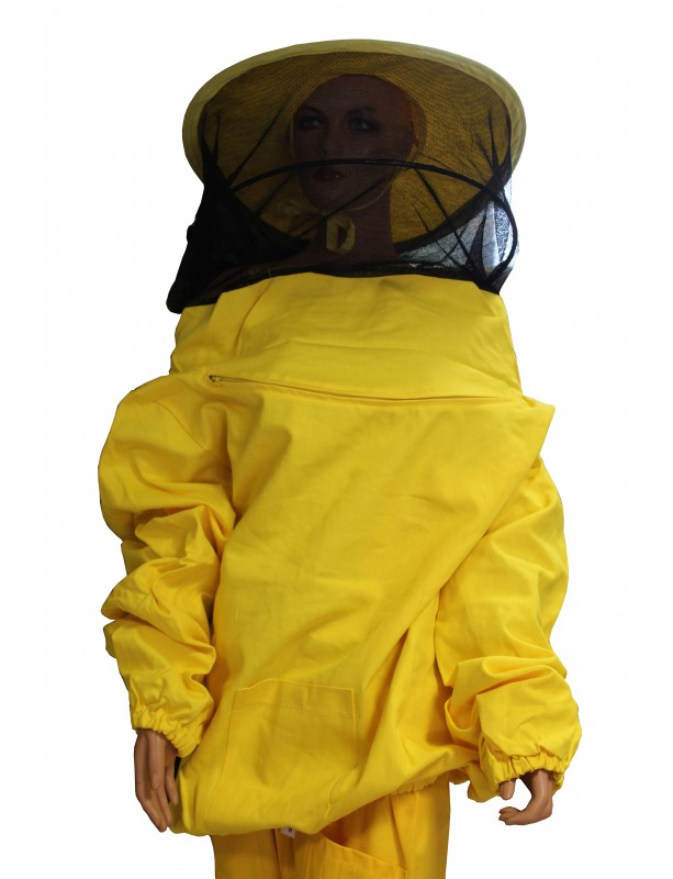 Round hat in tulle veil with jacket for beekeeper