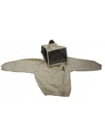 Blusón para apicoltura con careta cuadrada talla XL