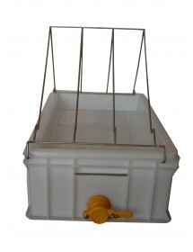 BANCO in nylon per disopercolare con vasca da cm.60x40x22