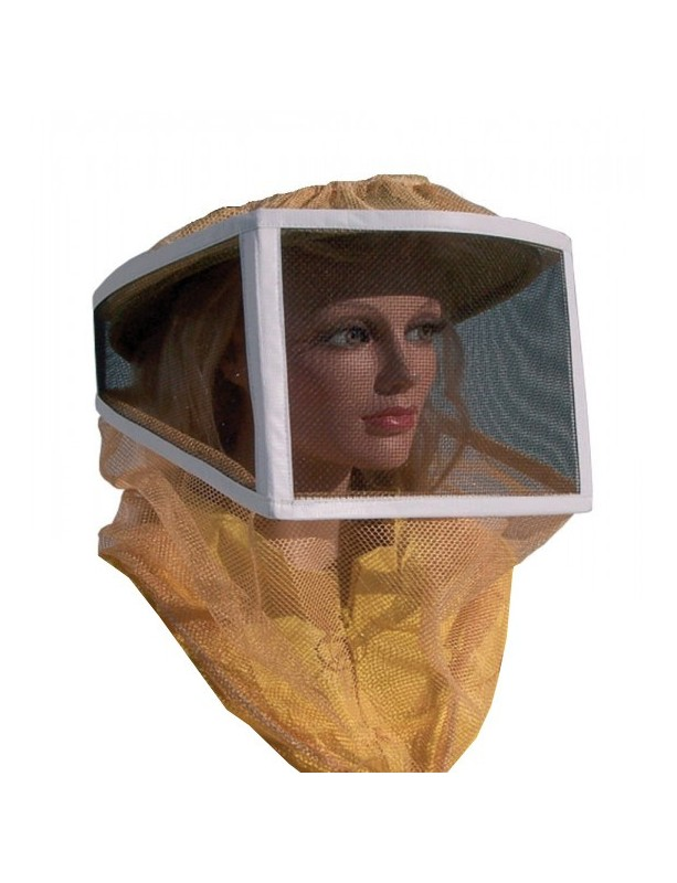 Net and tulle square HAT for beekeeping