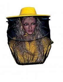 CARETA para apicultura redonda en velo de tul