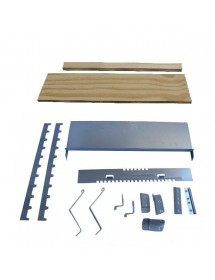 KIT DE QUINCAILLERIE POUR RUCHE D.B. NOMADISME 10 CADRES avec des supports de portique en bois