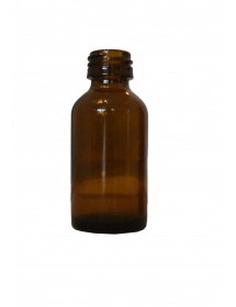 FLACONE ROTONDO IN VETRO GIALLO 20 ml